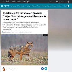 """Ilmastonmuutos tuo sakaalin Suomeen – Tutkija: """"Ihmettelisin, jos se ei ilmestyisi 10 vuoden sisään"""""""