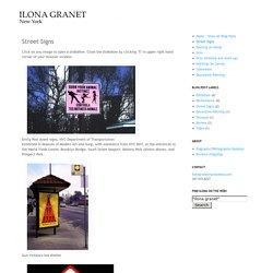 Ilona Granet Blog: Street Signs