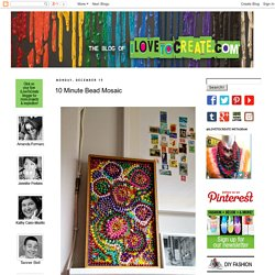 iLoveToCreate Blog: 10 Minute Bead Mosaic