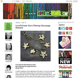 iLoveToCreate: Burnt Offerings Decoupage Necklace