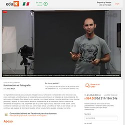 Curso en vivo y gratuito de Iluminación en Fotografía