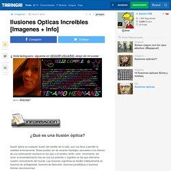 Ilusiones Opticas Increibles [Imagenes + Info]