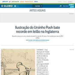 Ilustração do Ursinho Pooh bate recorde em leilão na Inglaterra