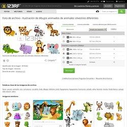 Ilustración De Dibujos Animados De Animales Silvestres Diferentes Ilustraciones Vectoriales, Clip Art Vectorizado Libre De Derechos. Image 9576362.