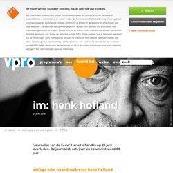 IM: Henk Hofland