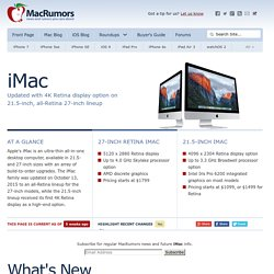 iMac: Everything We Know