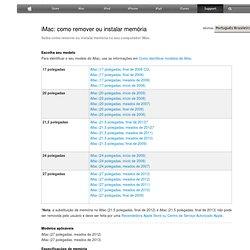 iMac: como remover ou instalar memória