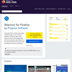 iMacros for Firefox