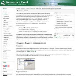 Бюджетные таблицы и совместный доступ к данным