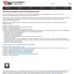 Основные разделы проектной документации
