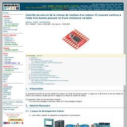 ArduinoExpertMoteurCCControlerSensVitesseRotation
