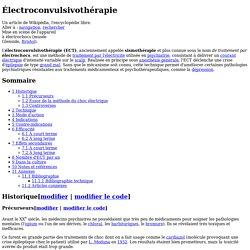 Électroconvulsivothérapie
