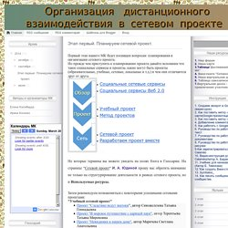 Организация дистанционного взаимодействия в рамках ФГОС или Социальные сервисы в сетевом проекте
