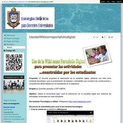 estrategiasparadocentesuniversitarios - UsodelWikicomoportafoliodigital