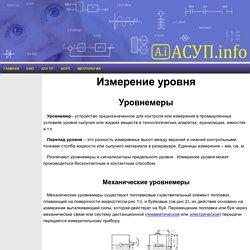 АСУП-инфо, уровень, методы измерения уровня, уровнемер, КИПиА