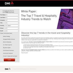 The Top 7 Travel & Hospitality Industry Trends to Watch