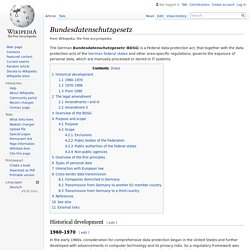 Bundesdatenschutzgesetz