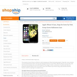 Style-up your Iphone with Apple iPhone 6 Case, Snap On Cover by Trek Creep Green Halloween Case