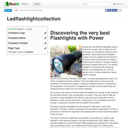Ledflashlightcollection