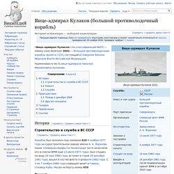 Вице-адмирал Кулаков (большой противолодочный корабль)