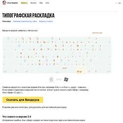 Типографская раскладка Ильи Бирмана