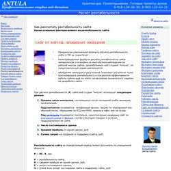Бизнес-сайт > Как рассчитать рентабельность сайта