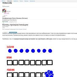 Конец прокрастинации / Блог компании Конференции Олега Бунина (Онтико)