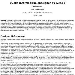 www-roc.inria.fr/who/Gilles.Dowek/lycee.html