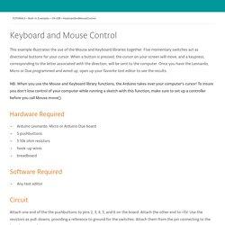 KeyboardAndMouseControl