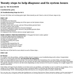 Twenty steps to help diagnose and fix system issues