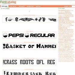 Font Catalog