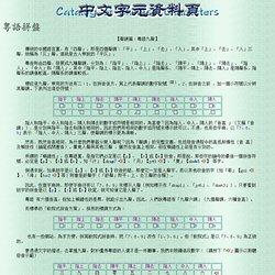 中文字元資料頁:粵語拼盤