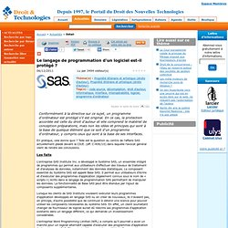 www.droit-technologie.org/actuality-1448/le-langage-de-programmation-d-un-logiciel-est-il-protege.html?utm_source=feedburner&utm_medium=feed&utm_campaign=Feed:+droit-technologie/RnCH+(Les+actus+du+Droit+des+Nouvelles+Technologies)
