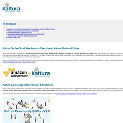 "Kaltura | ""Company Document"" [Email about AWS]"