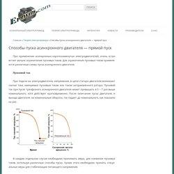Способы пуска асинхронного двигателя - прямой пуск ~ Электропривод - информационный ресурс по электроприводу