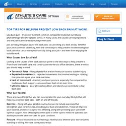 top-tips-for-helping-prevent-low-back-pain-at-work.html#sthash.gAf4TcxZ