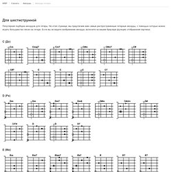 Гитарные аккорды - Распространенные аккорды для шестиструнной гитары