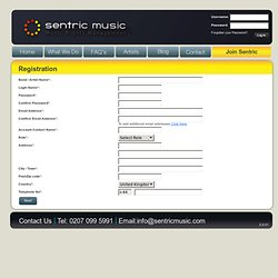 Sentric Music - helps unsigned bands collect PRS publishing roya