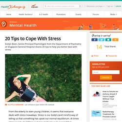 20 Tips to Cope With Stress