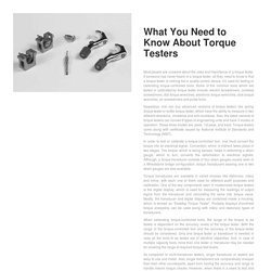 What You Need to Know About Torque Testers