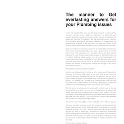 THE MANNER TO GET EVERLASTING ANSWERS FOR YOUR PLUMBING ISSUES