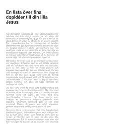 En lista över fina dopidéer till din lilla Jesus