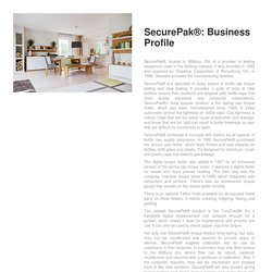 SecurePak®: Business Profile