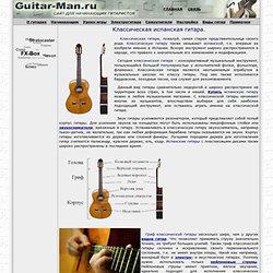 Классическая испанская гитара.