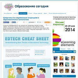 Шпаргалка по современным тенденциям в образовательных технологиях - Образование сегодня