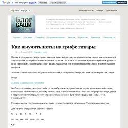 Блог Саши Окунева - Как выучить ноты на грифе