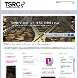 Third Sector Research Centre - SEIF Evaluation