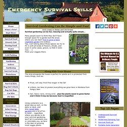 Survival Gardening