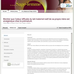 journal/l'exposition-à-une-odeur-familière-lait-maternel-et-analgésie-1