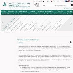 Szkoła Główna Handlowa w Warszawie - Podyplomowe Studia Dla Menedżerów Motoryzacji